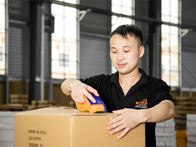 Professional worker packing products